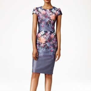 Betsey Johnson Floral scuba cap sleeve dress